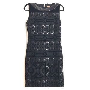 Tory Burch black bead embellished dress